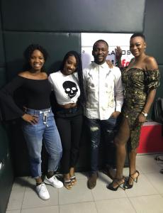 BBNaija 2019 Media Tour:- Comedian Ushbebe Poses With Evicted Housemates, Avala And Isilomo 1