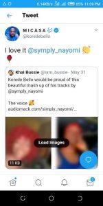 Nigerian star Korede Bello Retweets Presh Nayomi's Mash Up On Twitter - See photo 1