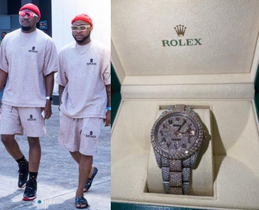 Too Much Money! Davido Gifts His Cousin, Tunji Adeleke, A $40k Rolex (Photos) 5