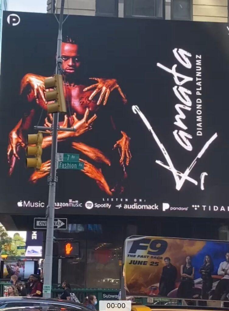 Kamata: Diamond Platnumz's new song debuts on New York Times Square Bilboard 1